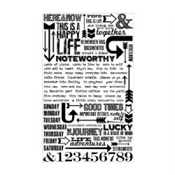 TH93120 Tim Holtz® Idea-ology Remnant Rubs - Life Quotes